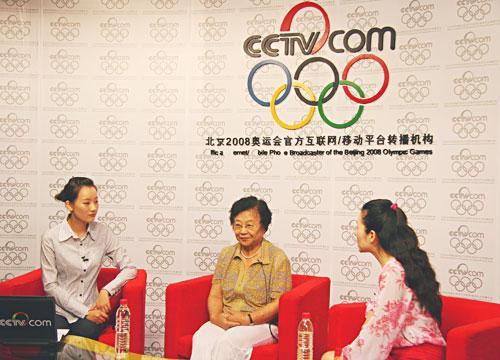 罗晰月(右)、齐心(中)做客央视网谈《第三届赛宝大会》