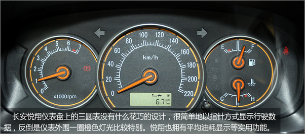 悦翔的行车电脑也配有了行驶平均油耗的功能,是这个级别车型较为少见