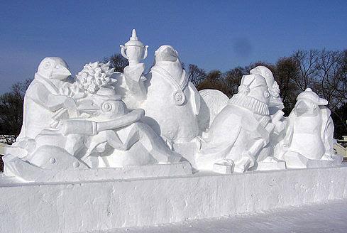 龙型雪雕设计图