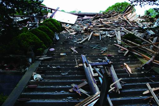 地震后的二王庙