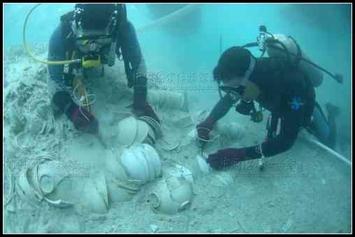 水下考古清理